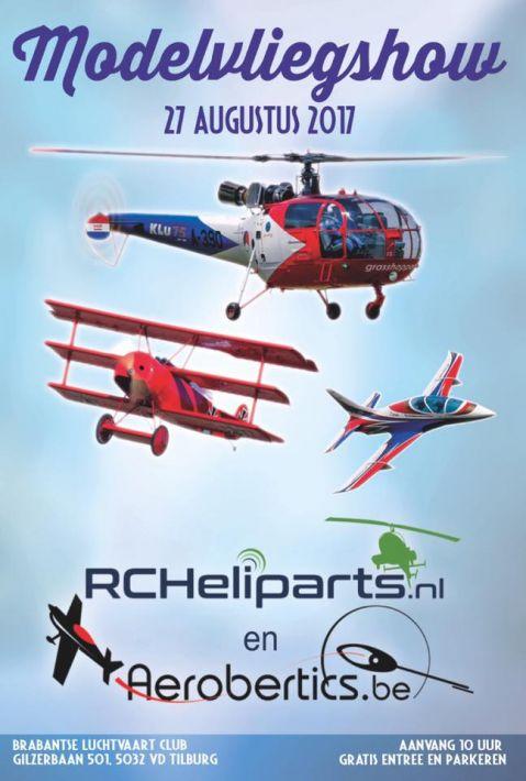 27 aug. Modelvliegshow Tilburg | Aerobertics & RC Heliparts