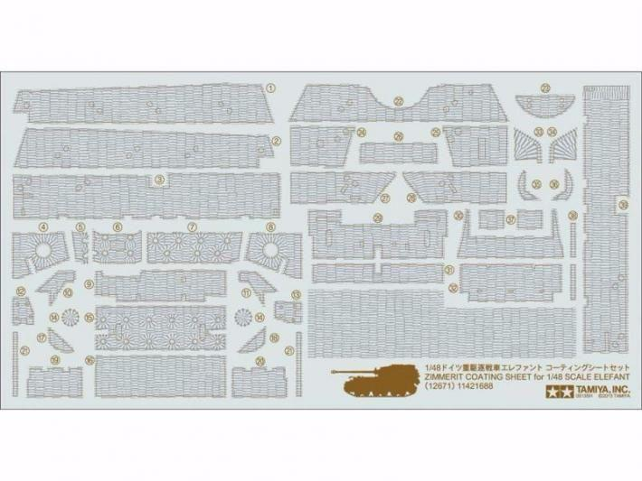 Zimmerit Coating Sheet for 148 Scale Elefant