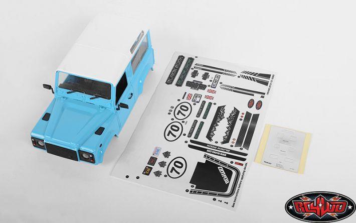 D90 Bodyset 1:18 Gelande II (Blue) | RC4WD