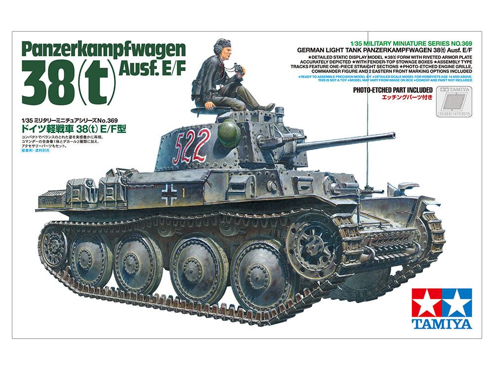 German Light Tank Panzerkampfwagen 38(t) Ausf.E/F | Tamiya